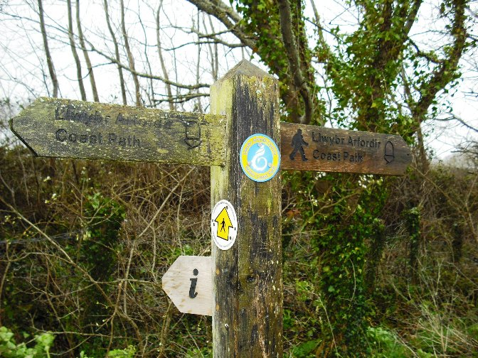 Wales Coast Path finger post