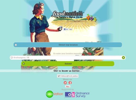 Image of the Foodnation website