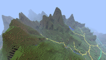 Image of Snowdonia in Minecraft