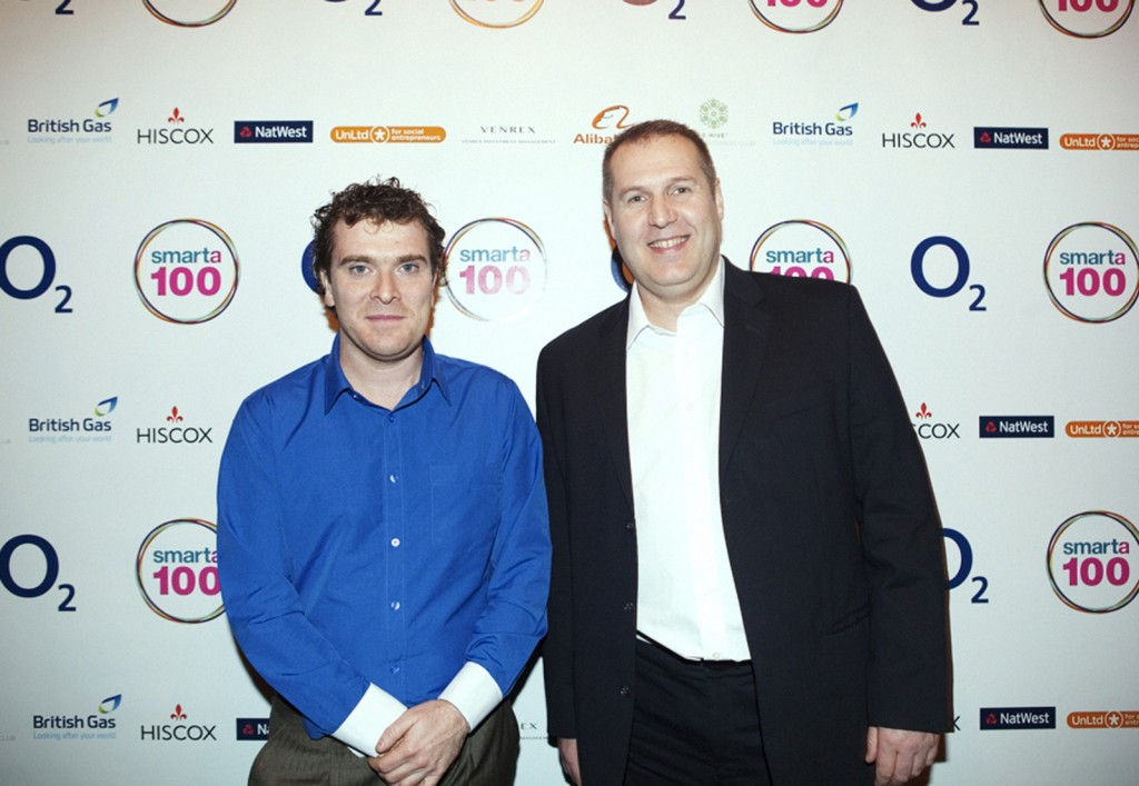 Photo of Gary Downie at Smarta Awards Ceremony