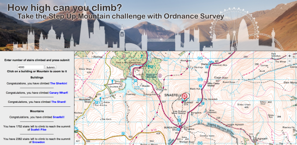 Image and link to Step up Mountain mapping tool
