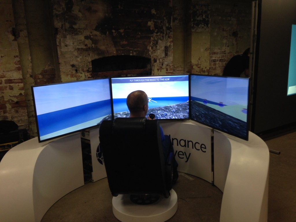 Simulator in use