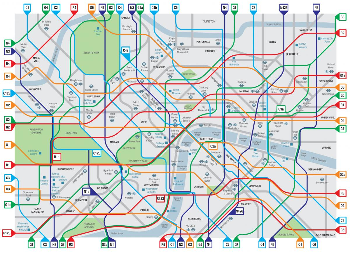 Greater London Cycle Map