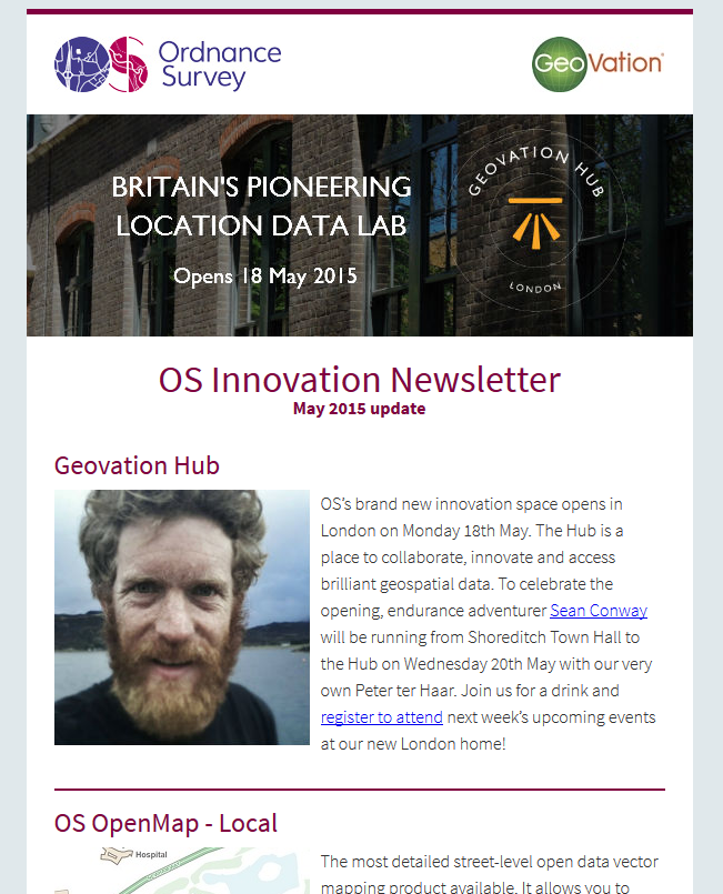OS Innovation newsletter May 2015