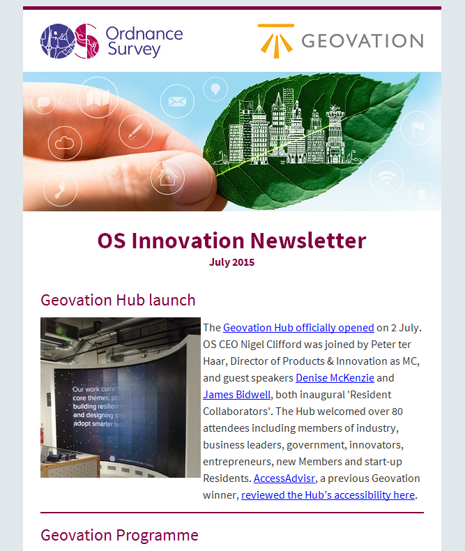 Innovation newsletter, July edition