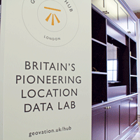Geovation pop-up in the Hub