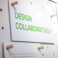 Sign saying design collaboratively